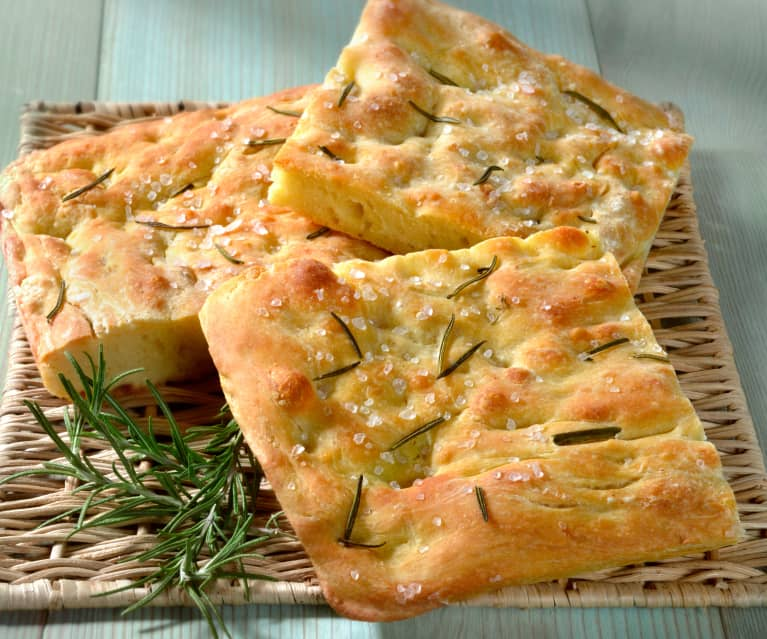 Focaccia with Sea Salt Flakes (TM5/6 Metric)