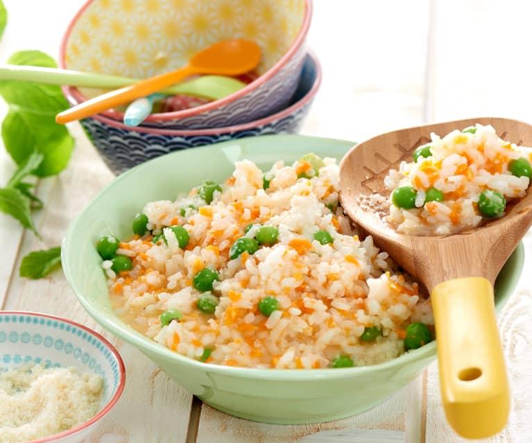 Risotto aux petits pois-carotte