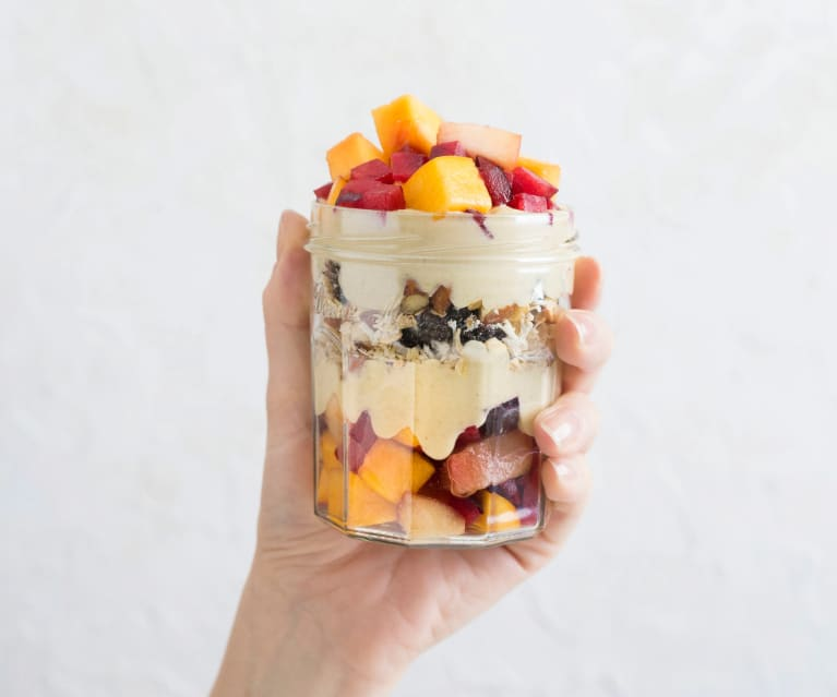 Parfait with passionfruit cream