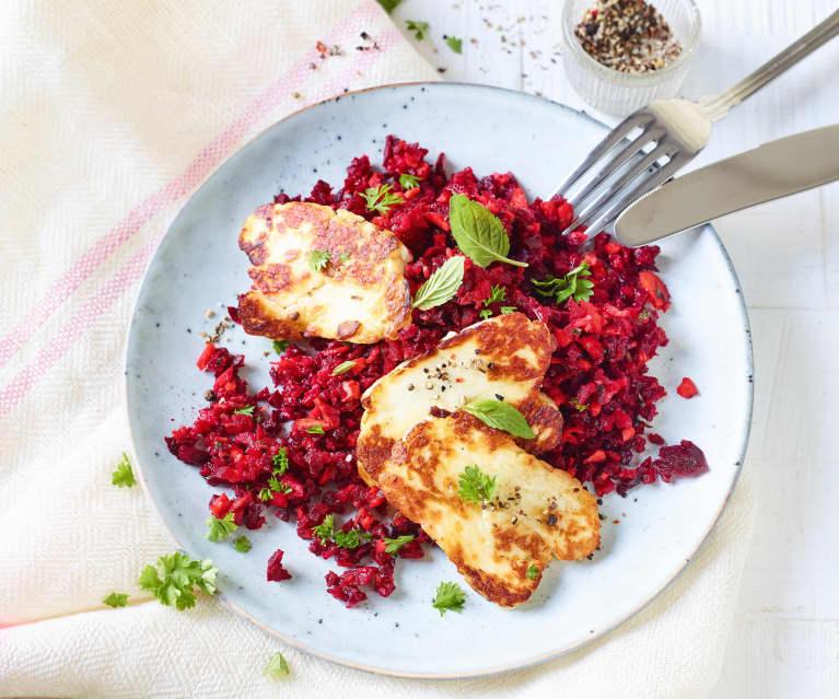 Rote-Bete-Salat mit Halloumi