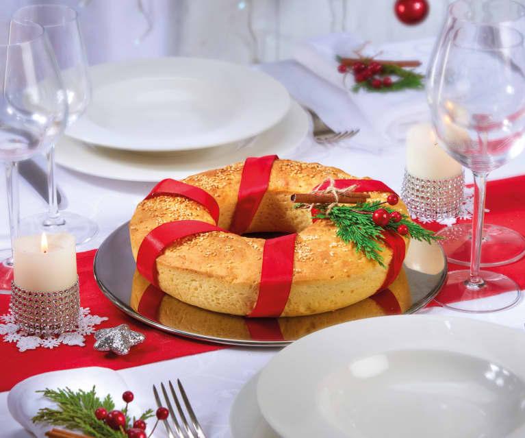 Corona di pane con il sesamo