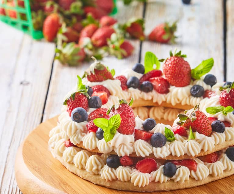 Tarta De Queso Mascarpone Y Fresas A La Vainilla