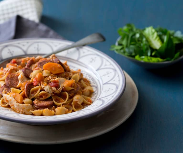 Chorizo and chicken pasta