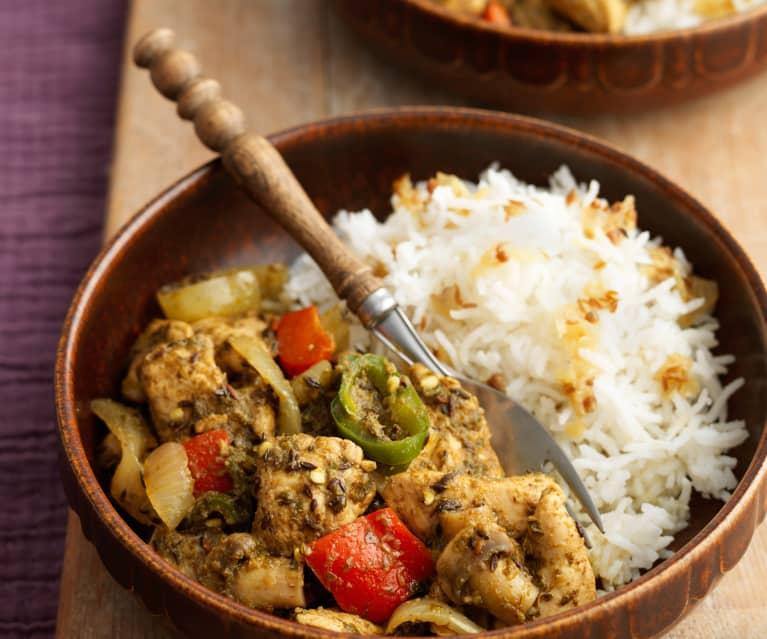 Chicken-Mushroom Balti