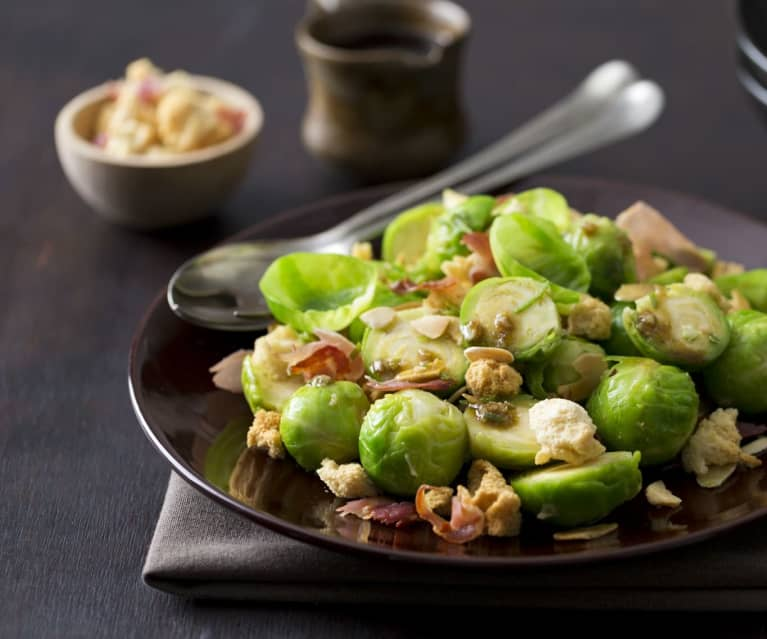 Brussels sprouts with lime crumb