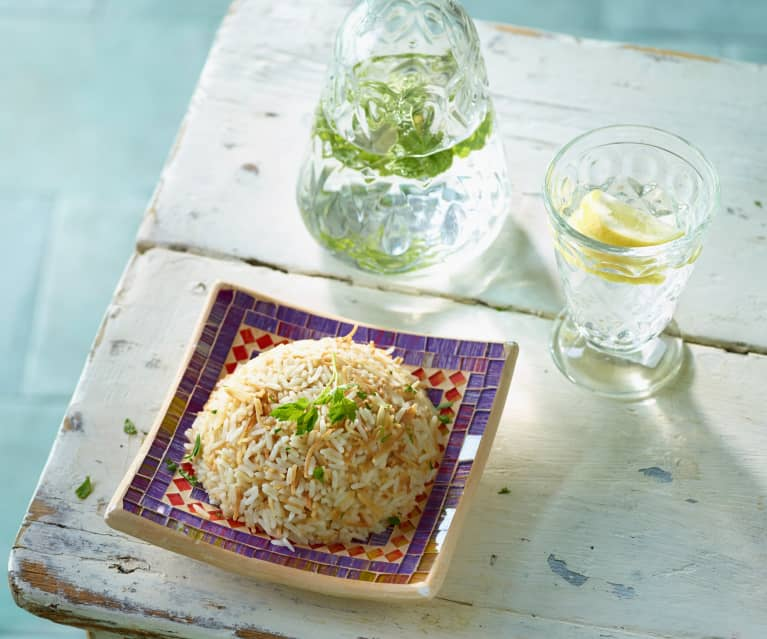 Butterreis mit Fadennudeln - Şehriyeli Pirinç Pilavı