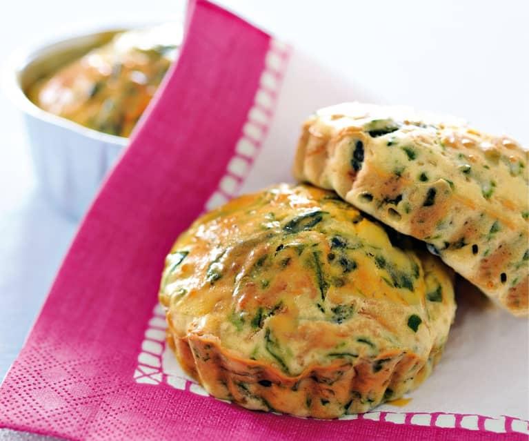Muffins au comté et épinards