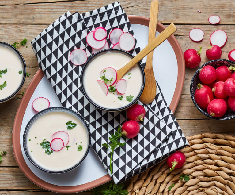 Crème de radis roses et mascarpone