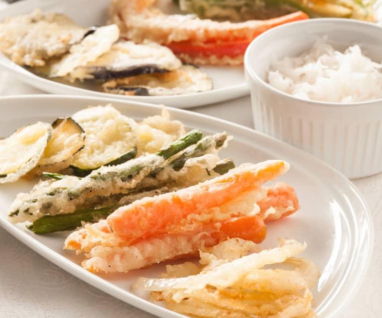 Tempura de verduras (masa japonesa para rebozar)