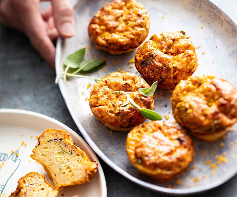 Baby-friendly Mixed Veggie and Cheddar Egg Muffins