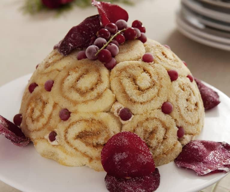 Tarta helada de dulce de leche condensada