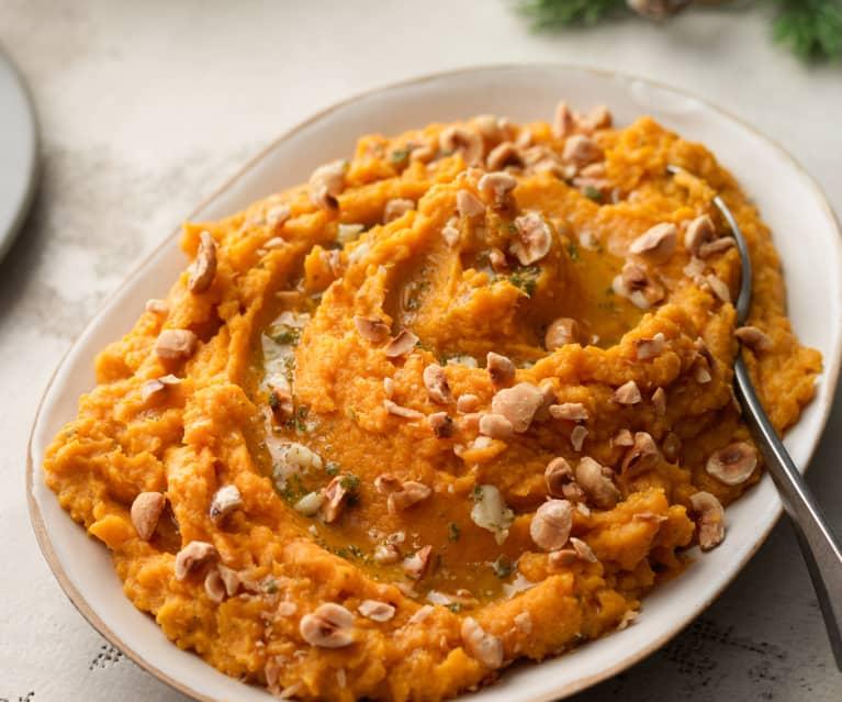 Sweet Potato Mash with Sage and Hazelnuts