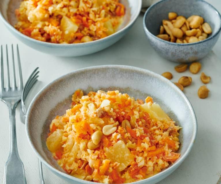 Möhrensalat mit Erdnüssen