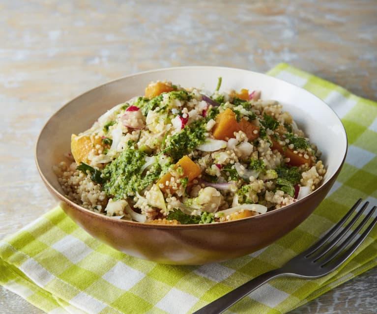 Quinoa Salad with Brazil Nut and Cilantro Pesto