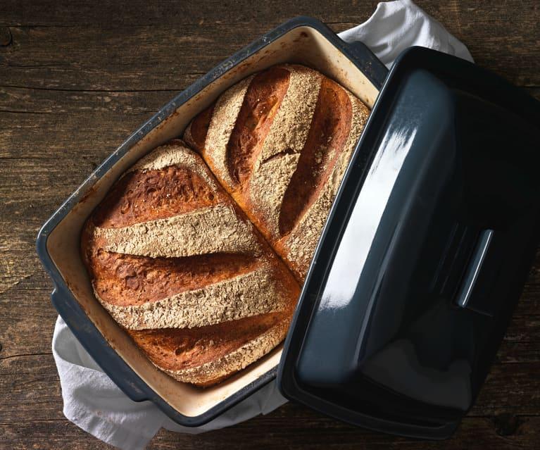 """Chleb """"bliźniak"""" na zakwasie (z naczynia kamionkowego)"""