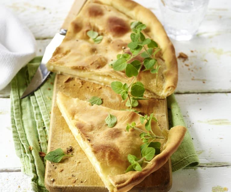 Gefüllte Focaccia mit Crescenza-Käse