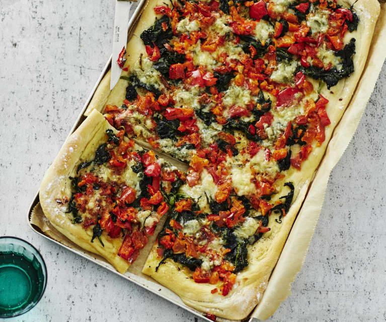 Spinat-Gorgonzola-Pizza