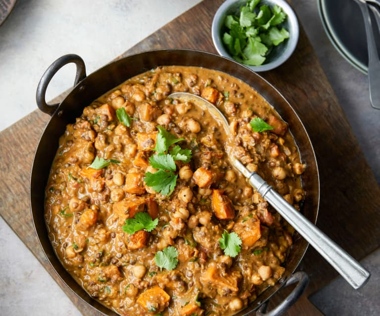 Indian-spiced Roast Butternut and Chickpea Curry