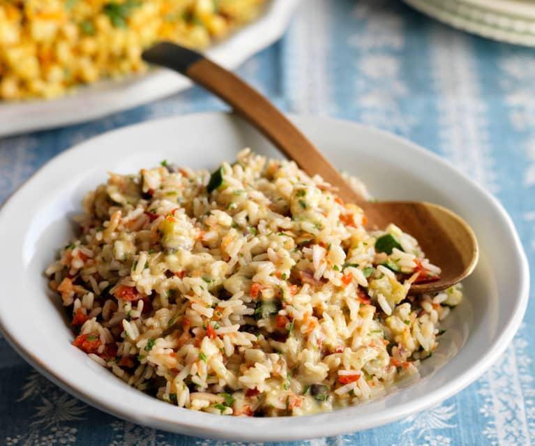 Reis-Gemüse-Salat