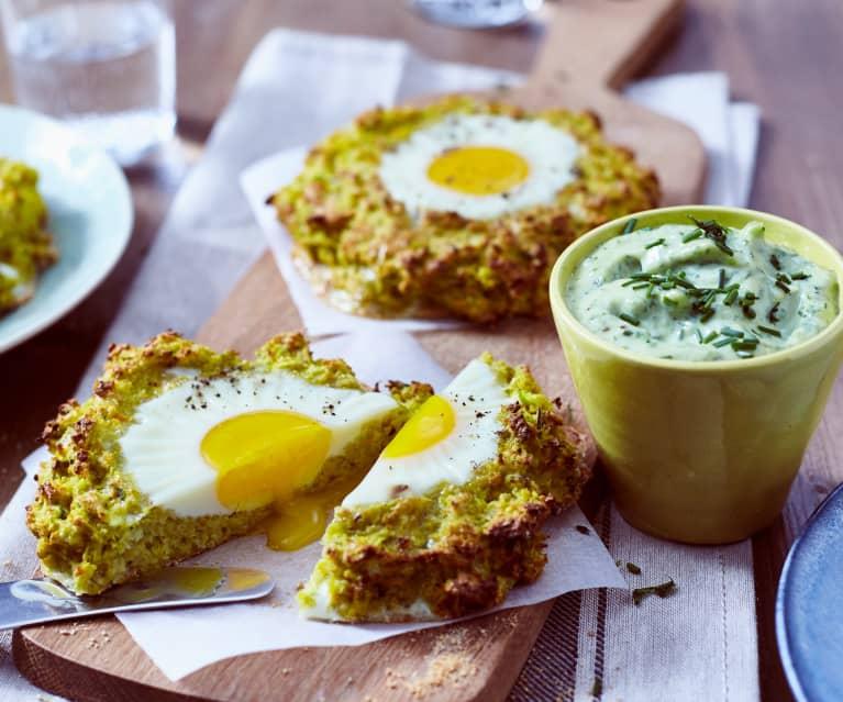 Wurzelgemüse-Nester mit Ei und Kräuter-Mayonnaise
