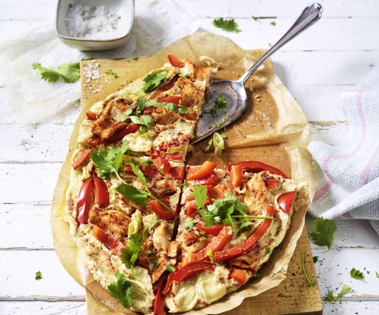 Omelette au poulet tandoori