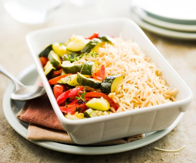Riz complet aux légumes