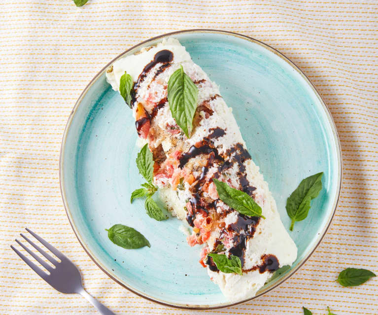 Omelete Caprese de claras