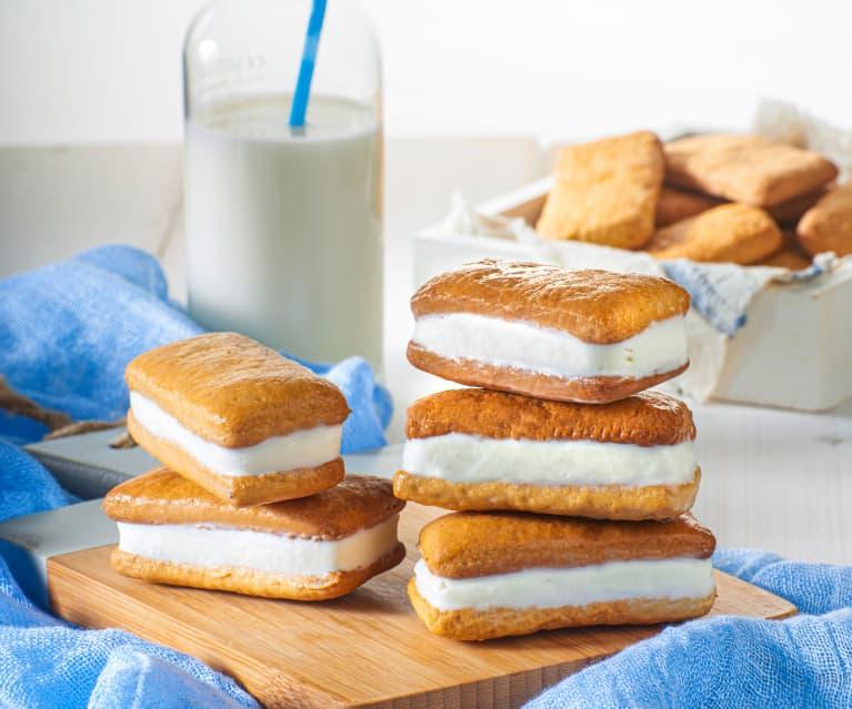 Biscotto gelato miele e yogurt