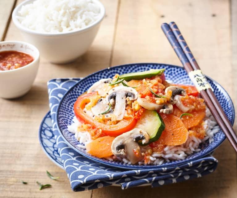 Riz et légumes à l'aigre douce