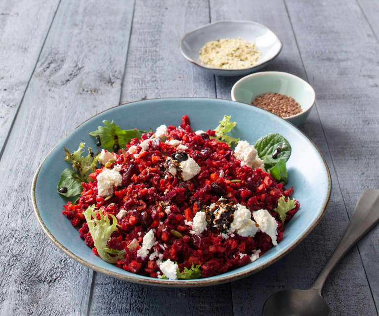 Beetroot and carrot salad with vincotto dressing