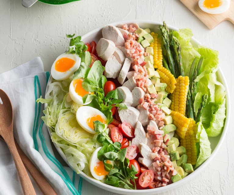 Cobb salad with buttermilk dressing