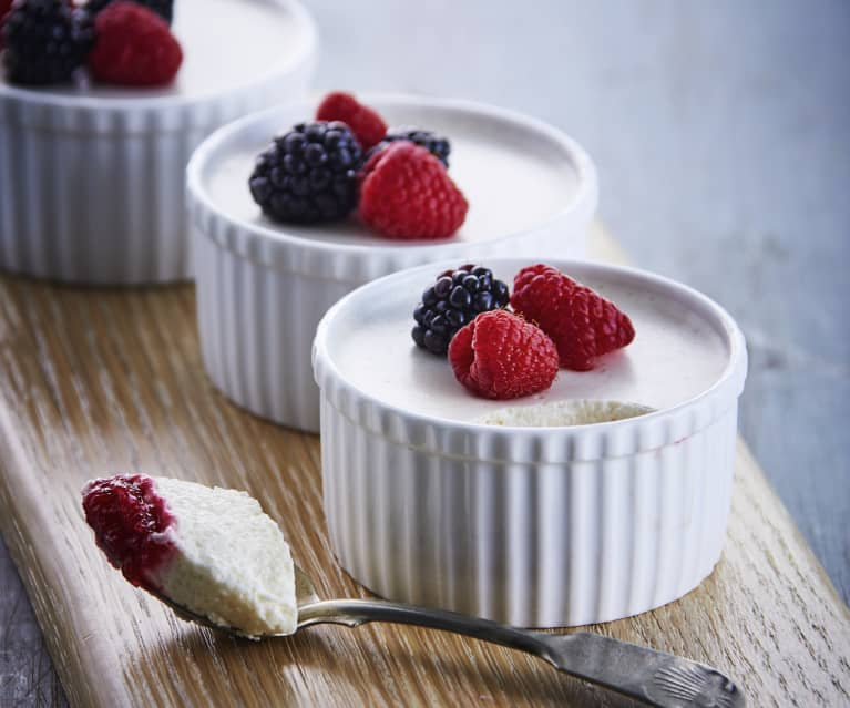 Lime Yogurt Berry Mousse