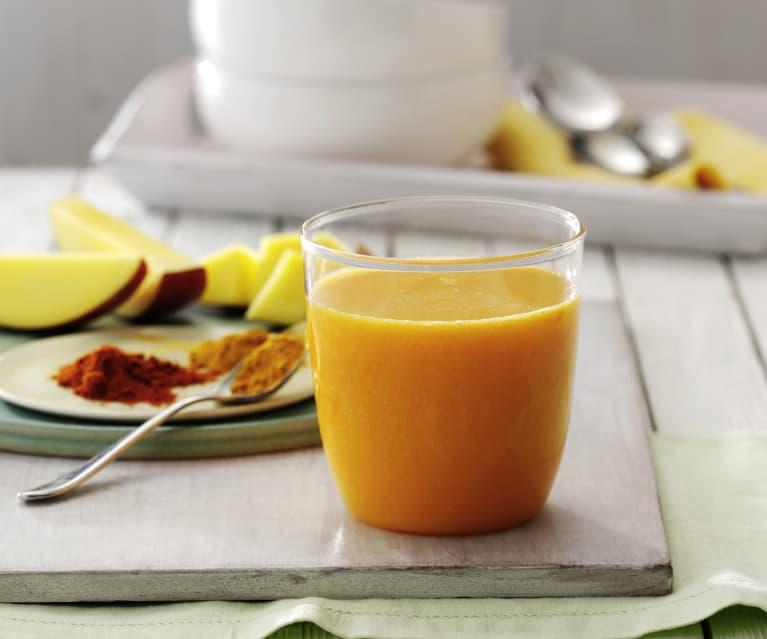 Napój z mango z pieprzem cayenne
