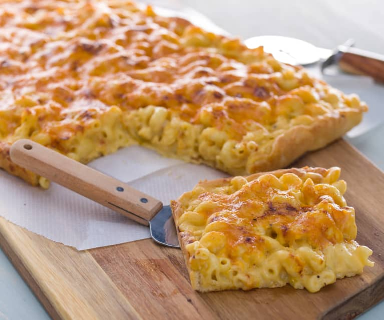 Pizza Mac 'n' Cheese (pizza de macarrones)
