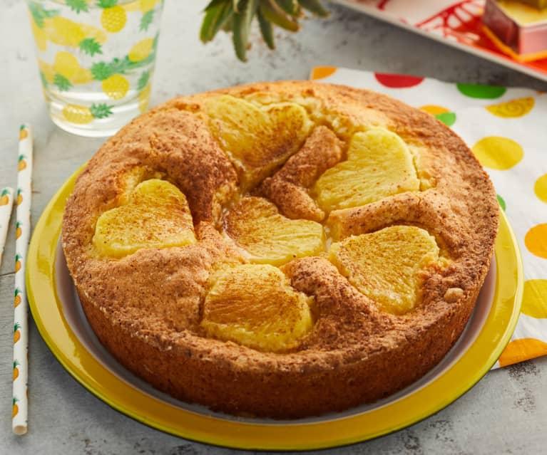 Gâteau cœur à l'ananas
