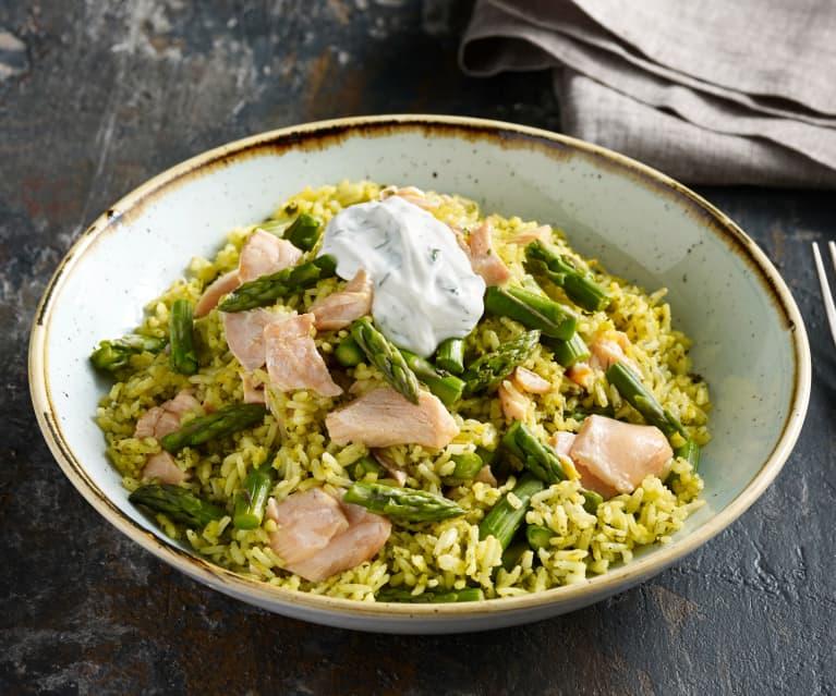 Salmon and Asparagus Rice Salad