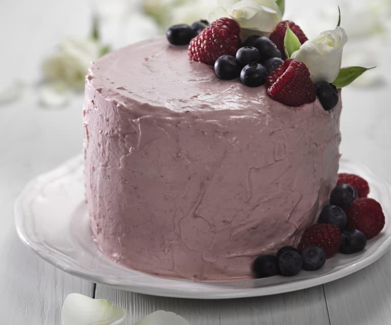 Čokoládovo-malinový zatočený dort