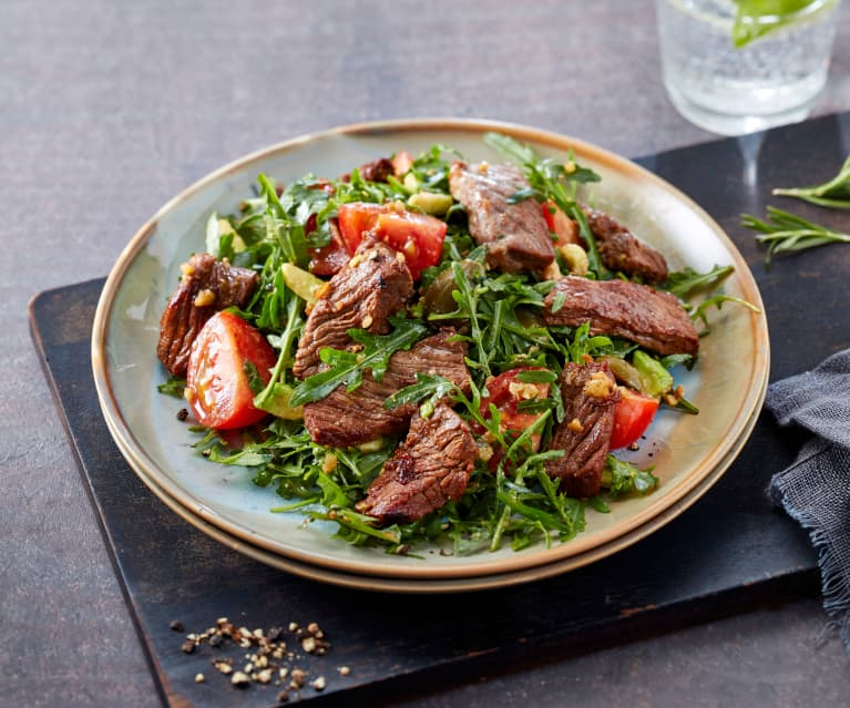 Seared steak and rocket salad