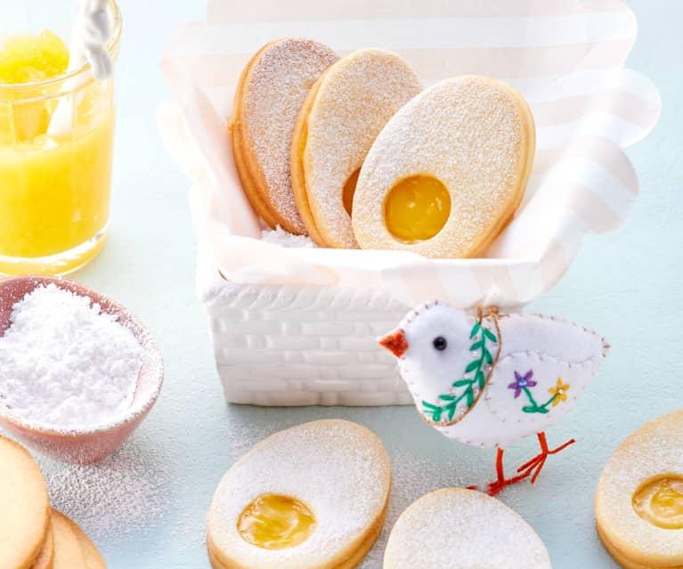 Lemon curd easter biscuits