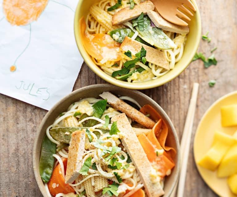 Baby-friendly Mango Tofu Sesame Noodles