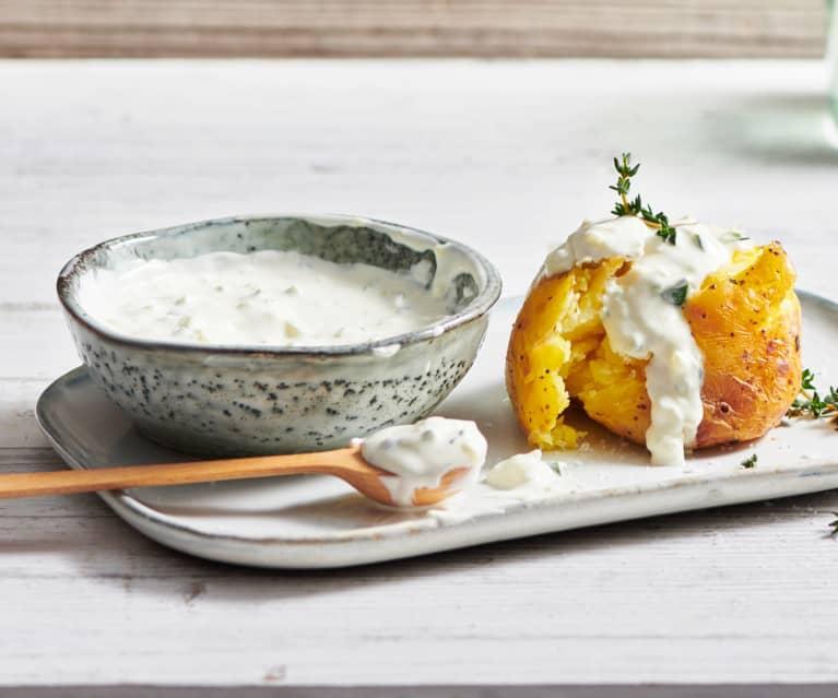 Selbst gemachter Joghurt-Frischkäse mit Zucchini