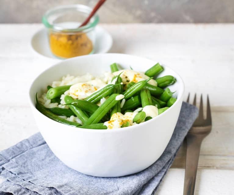 Currybohnen mit Reis