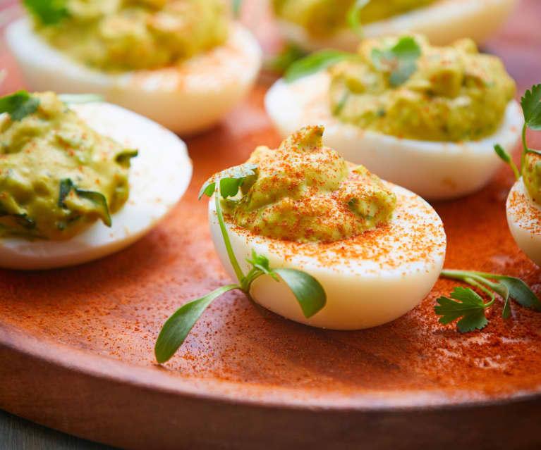 Green Chili Deviled Eggs