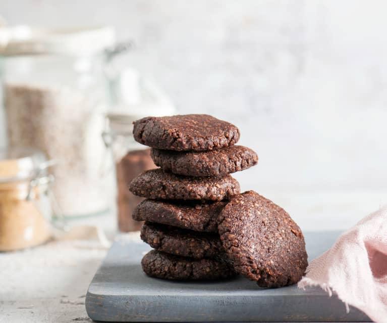 Kakaowo-orzechowe ciastka orkiszowe bez pieczenia