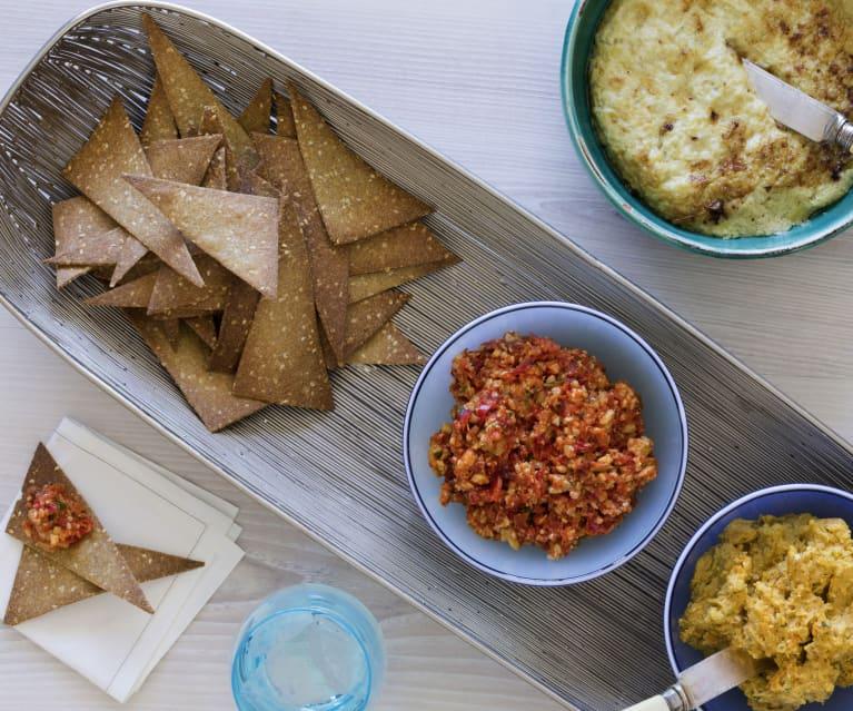 Ricetta Tortilla Chips Bimby.Chia And Quinoa Tortillas With A Trio Of Dips Cookidoo La Nostra Piattaforma Ufficiale Di Ricette Per Bimby