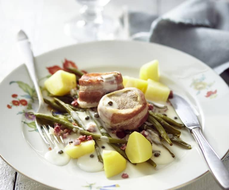 Schweinefilet mit grüner Pfeffersauce