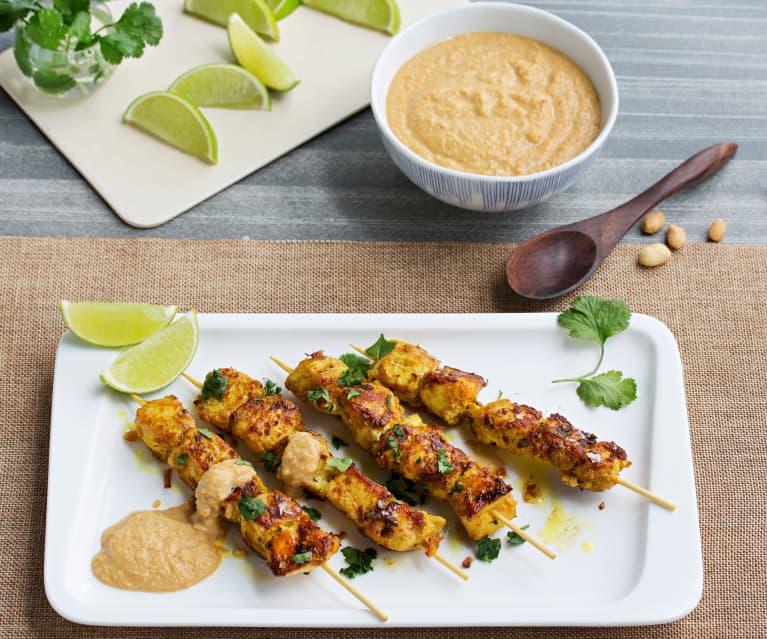 Chicken Satay with Peanut Sauce (Hestan Cue™)