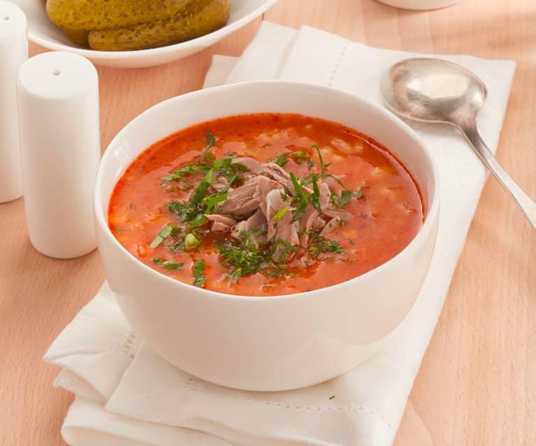 Gewürzgurken-Suppe (Rassolnik)
