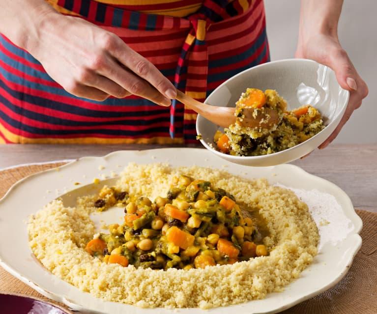 Cuscús especiado de verduras