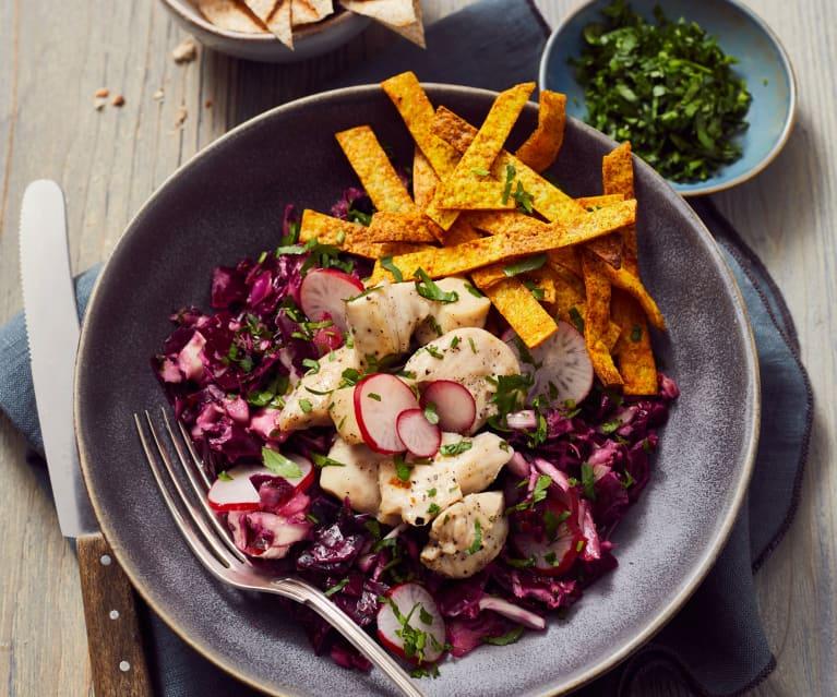 Hähnchen-Tortilla-Salat
